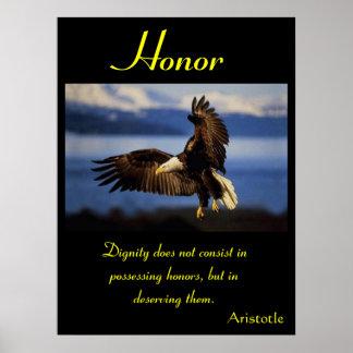 Águia 18 dos posters da honra