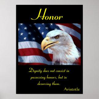 Águia 7 dos posters da honra