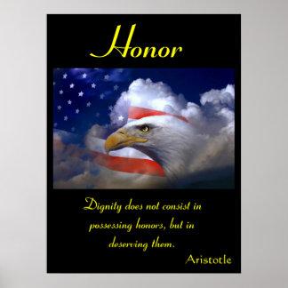 Águia 8 dos posters da honra