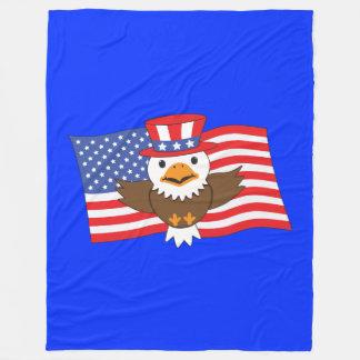 Águia americana americana cobertor de velo