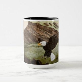 Águia americana caneca de 15 onças