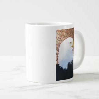 Águia americana caneca de café grande
