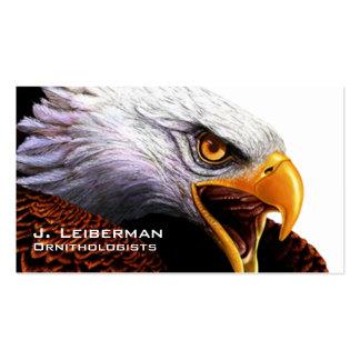Águia americana cartões de visitas