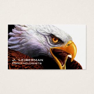 Águia americana cartão de visitas