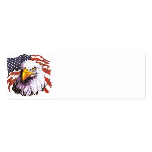 Águia americana com um rasgo - bandeira dos EUA no Modelo De Cartões De Visita