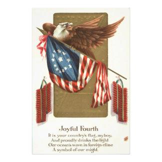 Águia americana da bandeira dos E.U. do foguete do Impressão De Foto