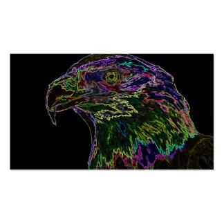 Águia americana de néon 2 cartão de visita