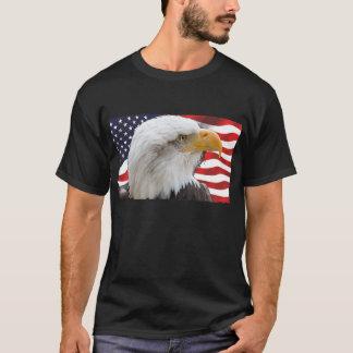 Águia americana e bandeira patrióticas camiseta