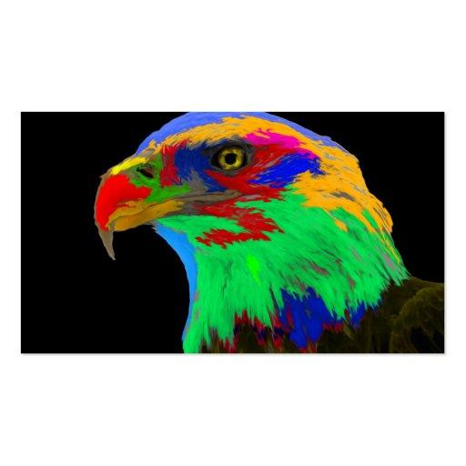 Águia americana (escovada) modelo cartao de visita