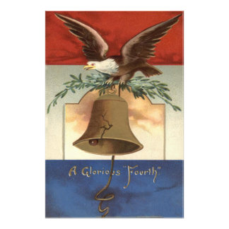 Águia americana Liberty Bell 4o julho Impressão De Foto