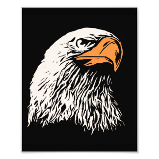 Águia americana patriótica impressão de fotos