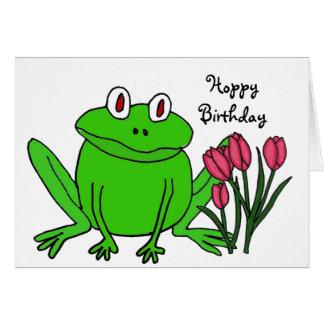 AH cartão de aniversário engraçado do sapo