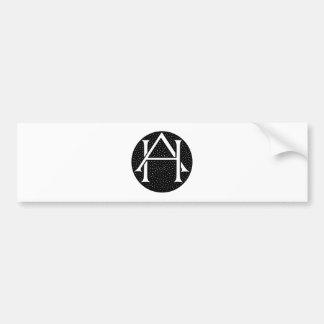 AH monograma para as iniciais letras AH Adesivo