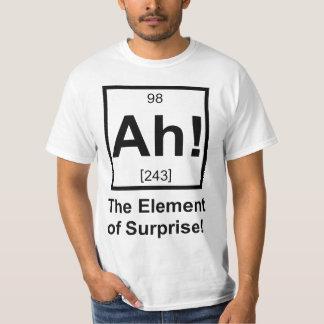 Ah o elemento do símbolo periódico do elemento da camiseta