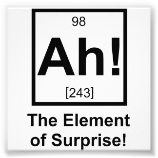 Ah o elemento do símbolo periódico do elemento da impressão de foto