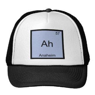 Ah - T do símbolo do elemento da química da cidade Bonés