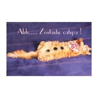 Ahh. catspa zentastic, gato que obtem o tratamento impressão em tela canvas