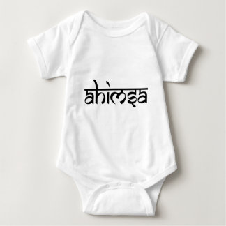 Ahimsa - अहिंसा - princípio budista body para bebê