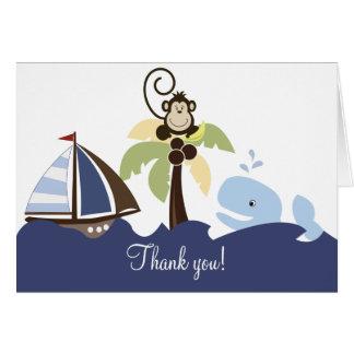 Ahoy cartões de agradecimentos da baleia & do