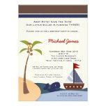 Ahoy convite do aniversário da baleia do veleiro d