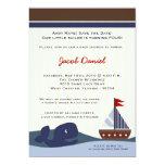 Ahoy convite do aniversário de Whal do veleiro do