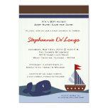 Ahoy convite do chá de fraldas de Whal do veleiro