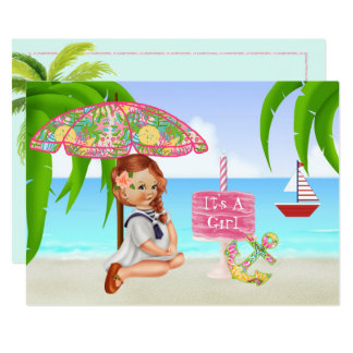 Ahoy é um convite do chá de fraldas da menina