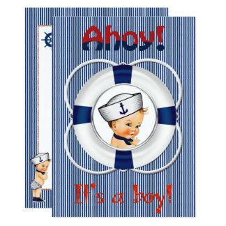Ahoy é um convite do chá de fraldas do menino