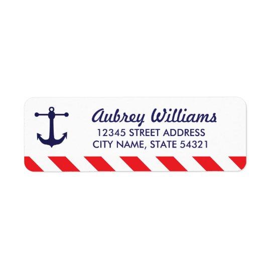 Ahoy! Etiquetas de endereço náuticas Etiqueta Endereço De Retorno
