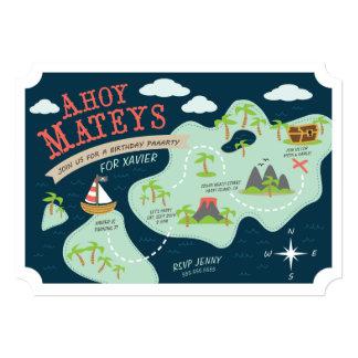 Ahoy o aniversário de Mateys convida Convite 12.7 X 17.78cm