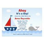 Ahoy seu um convite do chá de fraldas do menino