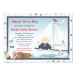 Ahoy seu um convite do chá de fraldas do veleiro convite 12.7 x 17.78cm