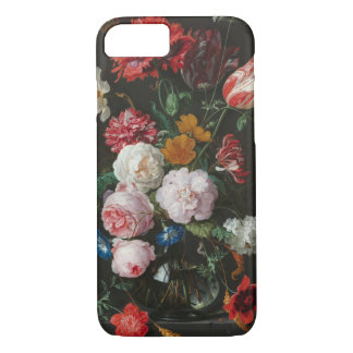 Ainda capa de telefone floral escura da vida