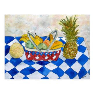 ainda cartão da arte da cesta de fruta da vida