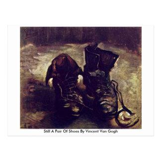 Ainda um par de sapatos por Vincent van Gogh Cartao Postal