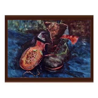 Ainda um par de sapatos por Vincent van Gogh Cartão Postal