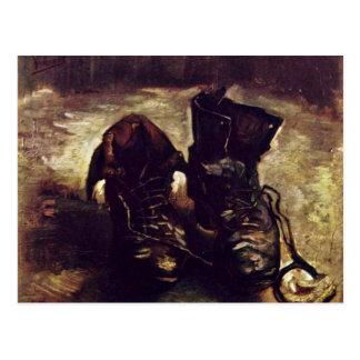 Ainda um par de sapatos por Vincent van Gogh Cartões Postais