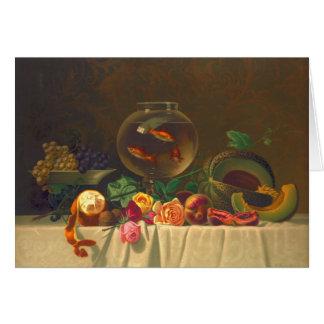 Ainda vida com peixe dourado 1873 cartoes
