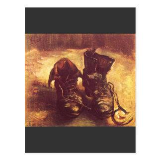 Ainda vida, par de sapatos de A por Van Gogh Cartoes Postais