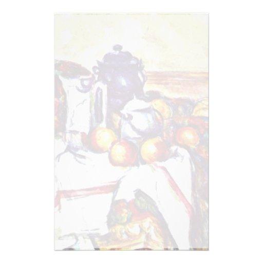 Ainda vida por Paul Cézanne (a melhor qualidade) Papelaria Personalizada
