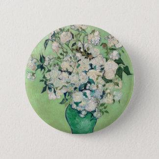 Ainda vida: Vaso com rosas - Vincent van Gogh Bóton Redondo 5.08cm
