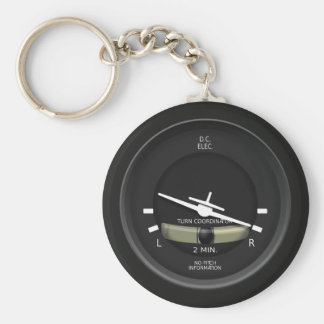 Aircraft Turn Coordinator Instrument Key Chain