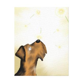 Airedale e impressão original da arte das