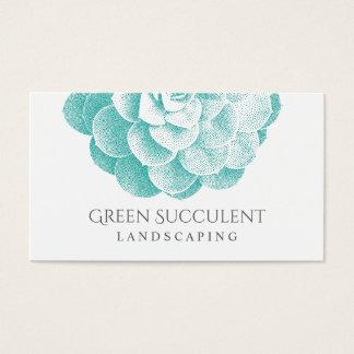 Ajardinando a planta do Succulent do jardim do Cartão De Visitas