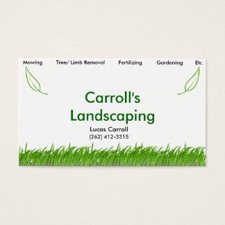 Ajardinar de Carroll Cartão De Visitas
