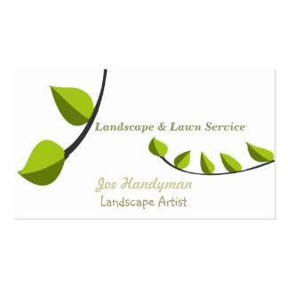 Ajardinar de jardinagem original do cuidado do cartão de visita