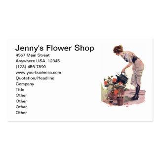 Ajardinar do cuidado da planta de jardinagem da cartão de visita