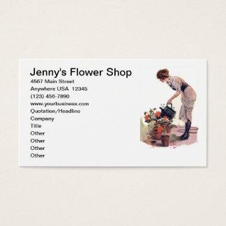 Ajardinar do cuidado da planta de jardinagem da cartão de visitas