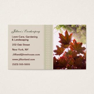 Ajardinar/gramado/cartões de visitas de jardinagem cartão de visitas