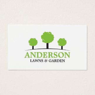 Ajardinar moderno do cuidado do gramado cartão de visitas